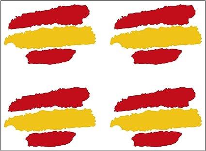 Artimagen Pegatina Bandera Trazos España 4 uds. 40x25 mm/ud.