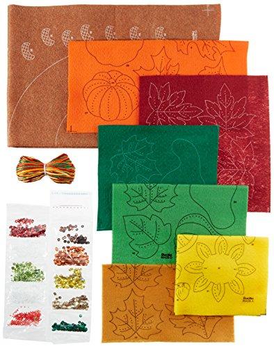 Bucilla Felt Applique Wreath Kit, 15-Inch Round, 86428 Harvest Time