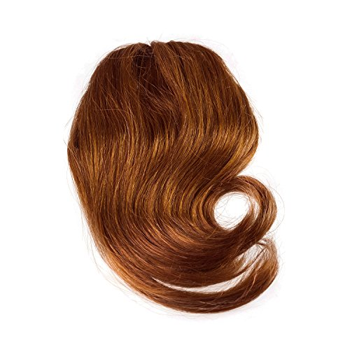 Sono 1 Count 100% Human Hair Side Swept Clip-In Bang Extensions, #30/33 Dark Chestnut Auburn