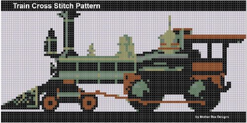 (Train Cross Stitch Pattern)