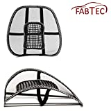 FABTEC Premium Quaility Car Seat/Office/Home Chair Back Rest Support (Set of 2) For -ETIOS
