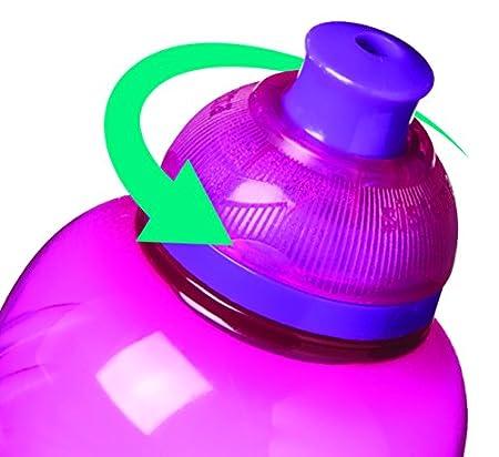 Sistema Hydrate Twist n Sip - Botella de plastico, Azul, 460 ml, 1 unidad: Amazon.es: Hogar