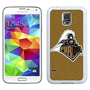 Fashionable And Unique Designed With Ncaa Big Ten Conference Football Purdue Boilermakers 12 Protective Cell Phone Hardshell Cover Case For Samsung Galaxy S5 I9600 G900a G900v G900p G900t G900w Phone Case White
