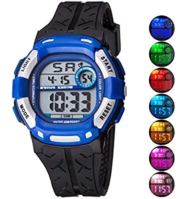 Kids Watch Sport Multi Function 30M Waterproof LED Alarm Stopwatch Digital Child Wristwatch for Boy Girl from Takyae
