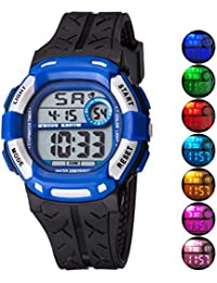 Kids Watch Sport Multi Function 30M Waterproof LED Alarm...