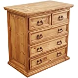 Rustics For Less LT-COM-26 Traditional Chest of Drawers, Short, Medium