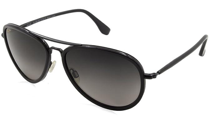 Gafas de sol Maui Jim GS260 Negro Aviator: Amazon.es: Ropa y ...