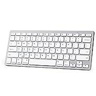 "XINKSD Bluetooth Ultra-Slim Keyboard for iPad Air 2 / Air, iPad Pro, iPad mini 4 / 3 / 2 / 1, iPad 4 / 3 / 2 , New iPad 9.7""(2018/ 2017), Galaxy Tabs and Other Mobile Devices (White)"