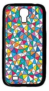 geometric Polycarbonate Hard Case Cover for Samsung Galaxy S4/Samsung Galaxy I9500 Black