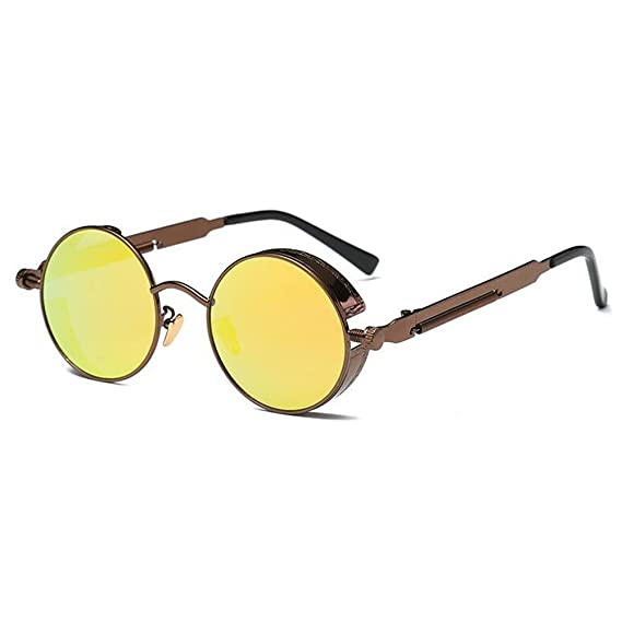 Gafas de sol punk polarizadas Gafas de sol redondas Gafas de sol retro unisex: Amazon.es: Ropa y accesorios