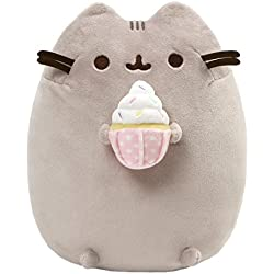GUND Pusheen Snackables Sprinkled Cupcake Cat Plush Stuffed Animal, Gray, 9.5""