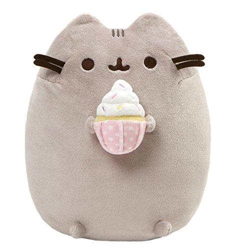 (GUND Pusheen Snackables Sprinkled Cupcake Cat Plush Stuffed Animal, Gray, 9.5