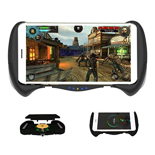 (JUHOT iPhone Game Controller,Integrated with Wireless Charger Pad for iPhoneX/XR/XS/8/8puls/7/6.etc)