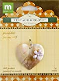 Making Memories Jill Schwartz Vintage Groove Pendant Heart Mother of Pearl