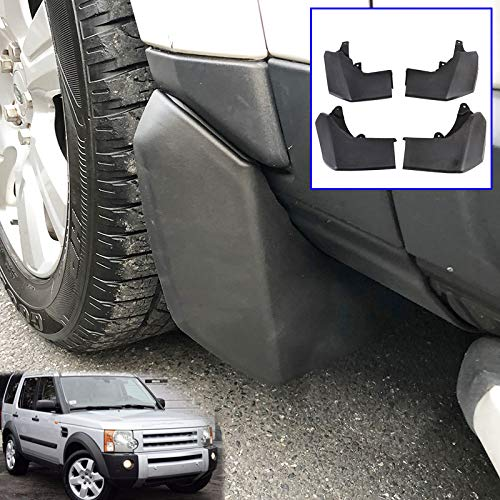 XUKEY Auto Molded Splash Guards for Land Rover Discovery 3 04-08 LR3 Mud Flaps - Front & Rear 4 Pieces Set