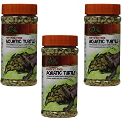(3 Pack) Zilla Aquatic Turtle Fortified Food, 6-Ounce Containers