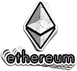 3 PCs Stickers ETH Ethereum Logo Distressed Graphic HODL 4 × 3 Inch Die-Cut Wall Decals for Laptop Window