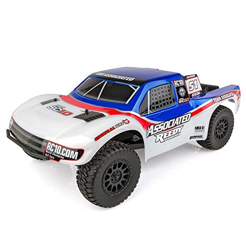 Team Associated 70016C ProSC10 Ae Team Ready to Run Brushless 2WD Short Course Truck, with Battery/Charger