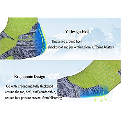 RedMaple 3 Pairs Camping Hiking Walking Socks for Women - Cushioned Comfortable Fitness Athletic Crew Socks for Outdoor… 4