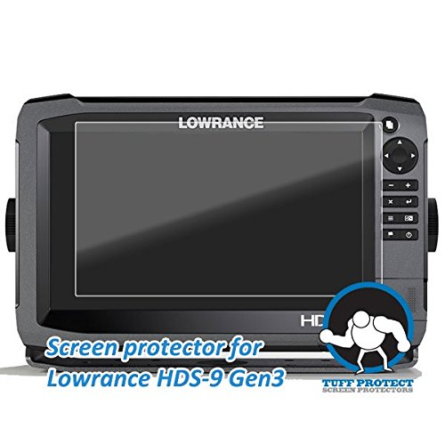 Tuff Protect Clear Screen Protectors for Lowrance HDS-9 Gen3 Fish Finder Screen