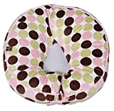 Leachco Podster Plush Sling-Style Infant Lounger - Pink , Brown and Sage Dots