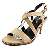 Coach Womens Wendi Open Toe Casual Strappy Sandals, Tan, Size 8.0
