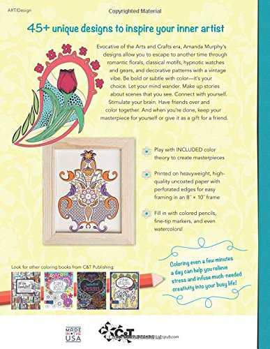 Amazon modern elegance coloring book 45 weirdly wonderful amazon modern elegance coloring book 45 weirdly wonderful designs to color for fun relaxation coloring art 9781617452802 amanda murphy books fandeluxe Images
