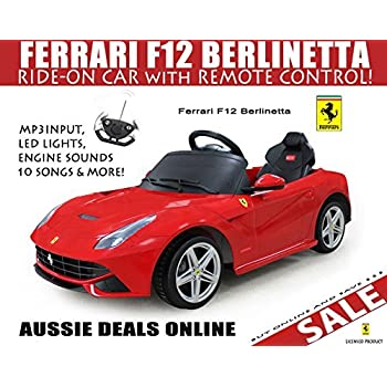 this item licensed ferrari f12 kids ride on car toy electric car with remote control red