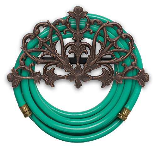 Whitehall Products Filigree Hose Holder, Oil Rub Bronze (Rubbed Bronze Outdoor Hanger)