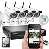 Funlux 1 Megapixel 720P HD 4CH NVR 4 Wireless Outdoor IP Network Surveillance Camera Kit CCTV Security Camera System with 1TB HDD & Scan QR Code Quick View Model: KS-S44UE-W-1TB