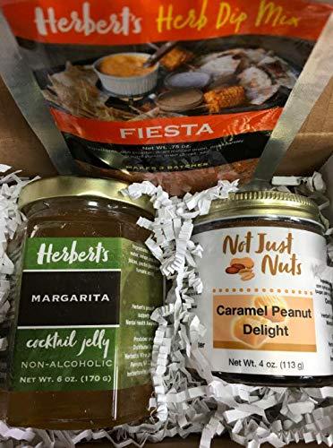 Gourmet Sampler 2 - Marguarita Jelly, Fiesta Herb Dip Mix, Caramel Peanut Butter Spread