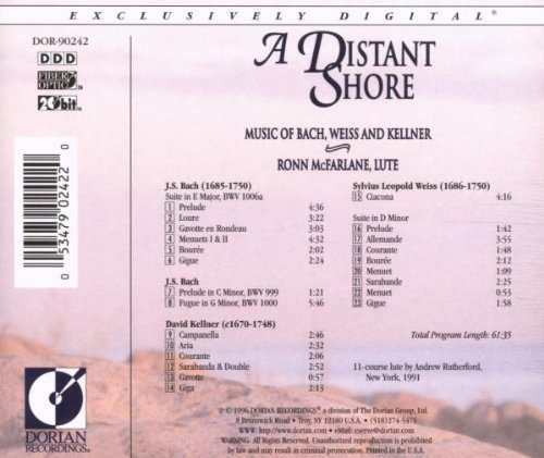 A Distant Shore: Music of Bach, Weiss and Kellner by sarabanda