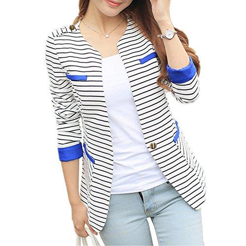 HM Fashion Casual Work Blazer Office Jacket Lightweight For Women Juniors #1 White 10