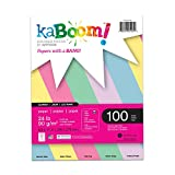 "Kaboom Glimmer Pastel Assorted Colored Paper, 8.5"" x 11"", 100 Sheets (20532)"