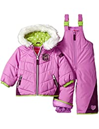 Baby Girls' Snowsuit With Snowbib and Puffer Jacket