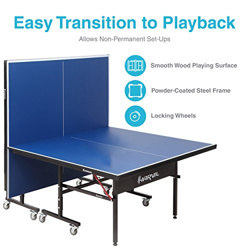 Harvil I, Indoor Table Tennis Table with Playback Feature and Locking Wheels by Harvil (Image #2)