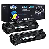 Cool Toner Compatible Toner Cartridge Replacement for CE285A CE285X (Black, 2-Pack, 2500 pages)
