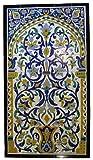 Tunisian Tile Mural Set - Flower Pot Yellow/Blue