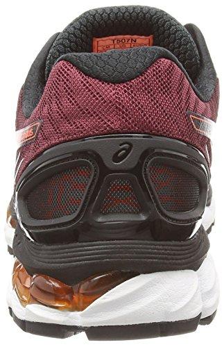 ASICS Gel-Nimbus 17 - Zapatillas de deporte para hombre Negro (Black/Hot Orange/Deep Ruby)