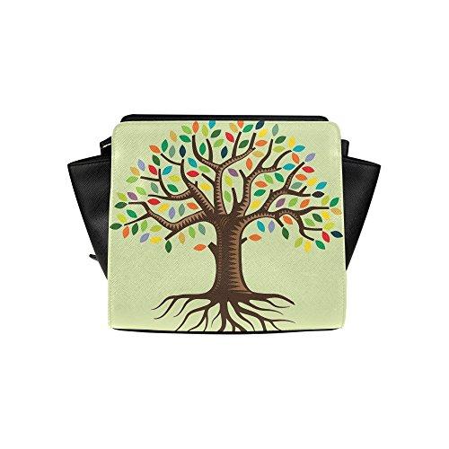 Meincare Women's Family Tree Pu Leather Satchel Bag