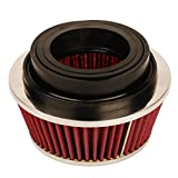 3in cone air filter - HIFROM 8161 Universal Clamp-On Air Filter Black Small Round Reverse Tapered fit 3 inch, 3 1/2 inch and 4 inch tubes
