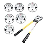 Ridgeyard Mechanical Rotating 6 Dies Compound Wire Terminal Cable Lug Crimping Pliers Crimper Tool 6-50mm² (AWG 10-1/0) Crimping Tool with Cutter