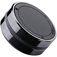 Star Fire Outdoors Super-Portable Small Metal Stereo Outdoor Bluetooth Speaker, Wireless Speaker with Built-in Mic for iPhone 7, iPad, Samsung, Nexus, HTC, Laptops and More(Black)