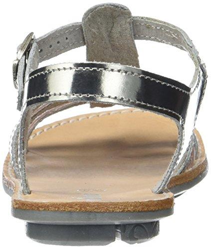 Fille Ouvert Acier Bout Sandales Imp Alu CHANAE18 Argent Minibel 6gzwSS