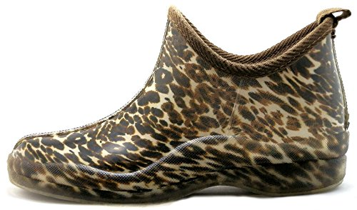 sh18es Shoes8teen Womens Short Rain Boots Prints & Solids 1118 Leopard fr6x9o