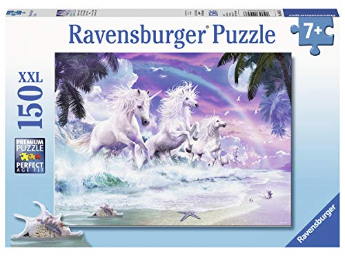 Ravensburger 10057 Unicorn Beach, 150 Piece Puzzle for Kids, Every Piece is Unique, Pieces Fit Together Perfectly
