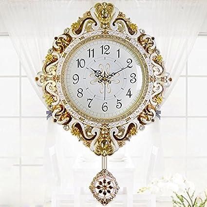 KHSKX-Modern Large Living Room Wall Clock Minimalist Summer Metal Quartz Clocks Stylish Pan Mute Clock 50.5Cm, Silver