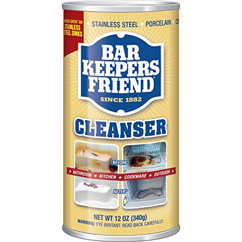 Classic Copper Soaking Tub - Bar Keepers Friend Powdered Cleanser 12-Ounces (1-Pack)