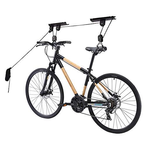 Comfecto Rack Lift Bike Hooks Garage Heavy Duty 50 lbs