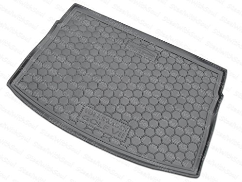 AV-G Fully Tailored Rubber | Cargo Mat Trunk Tray Boot Liner for Volkswagen Golf (MK7) Hatchback, GTI 2015-2018